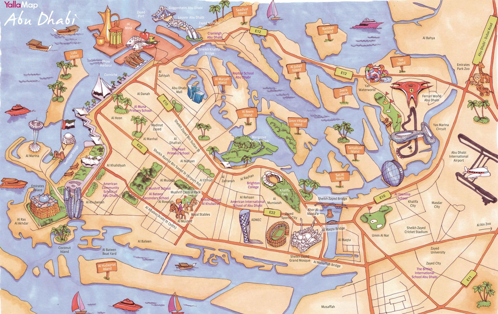 Yalla Abu Dhabi Yalla Abu Dhabi Events Map Family Guide For - Al ain map