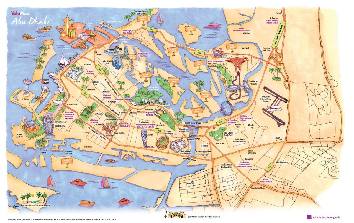 Abu Dhabi Map Yalla Abu Dhabi   Yalla Abu Dhabi Events Map   Family Guide for  Abu Dhabi Map