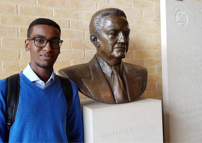 Brighton College Student visits oxford to receive award
